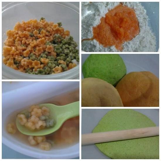 Baby Pasta : Sweet potato, Spinach & Carrot (omit salt)