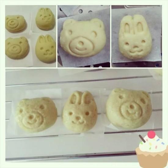 Rabbit and bear shaped mantao
