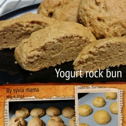 Yogurt rock bun