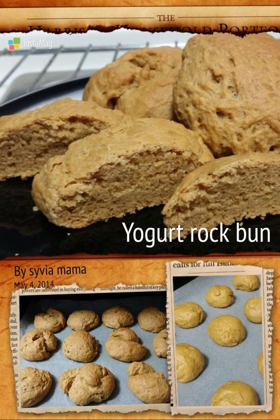 Yogurt rock bun
