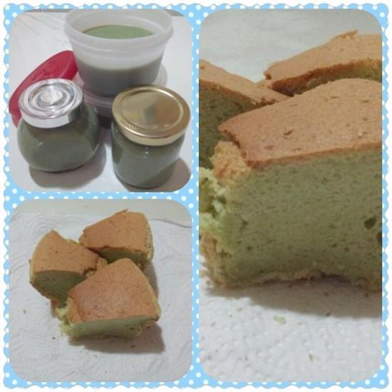 Homemade Pandan Kaya Jam & Pandan Chiffon Cake