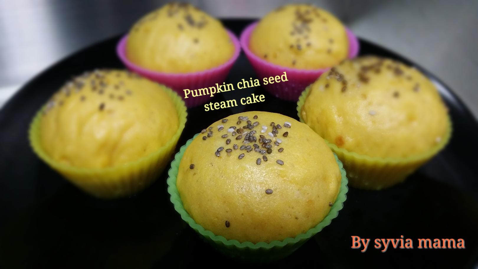 Pumpkin Chia Seeds Steam Cake My Baby Recipe