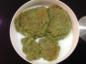 min shiang - spinach pancake