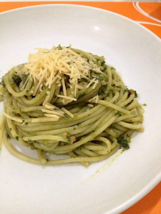 Avocado Pesto Spaghetti