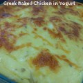 Greek Baked Chicken in Yogurt