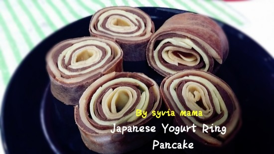Japanese yogurt ring pancake