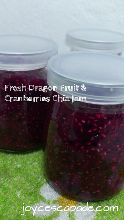 Fresh Dragon Fruit & Cranberries Chia Jam