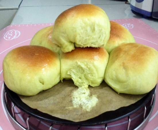 Overnight proofing method – Pandan bun