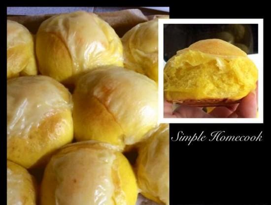 Pumpkin cheese bun