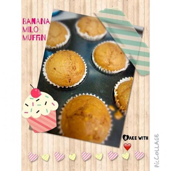 Banana milo muffin