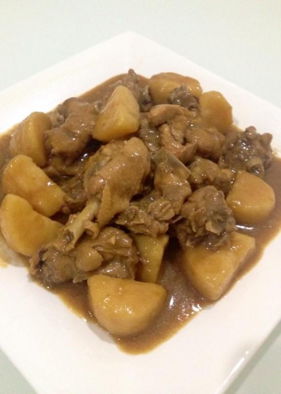 Stew potato chicken