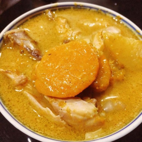 Pumpkin curry chicken by slow cooker (toddler version)